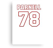 NFL Player Jermey Parnell seventyeight 78 Canvas Print