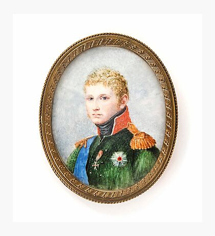 Portrait of a young general, Photographic Print