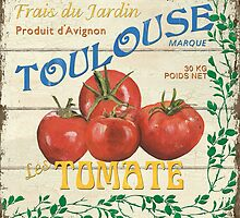 French Veggie Labels 3 by Debbie DeWitt