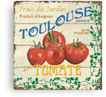 French Veggie Labels 3 Canvas Print