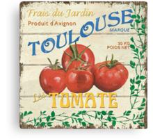 French Veggie Labels 3 Canvas Print