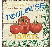 French Veggie Labels 3 Photographic Print