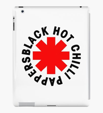 black hot chili pappers iPad Case/Skin