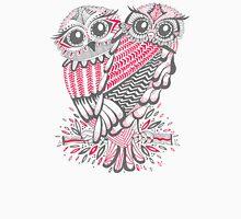 Owls – Pink & Grey Unisex T-Shirt
