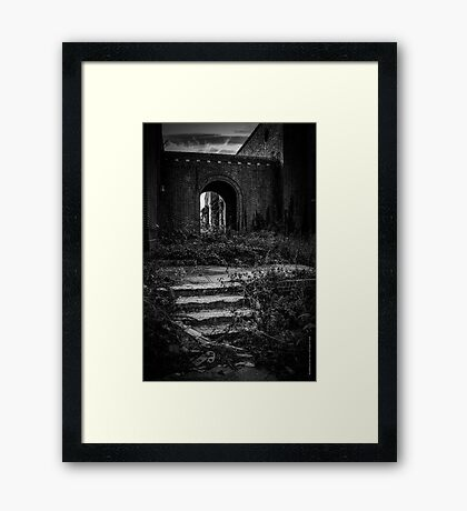 Pilgrim Psychiatric Center - Abounded Stairs Detail | West Brentwood, New York Framed Print