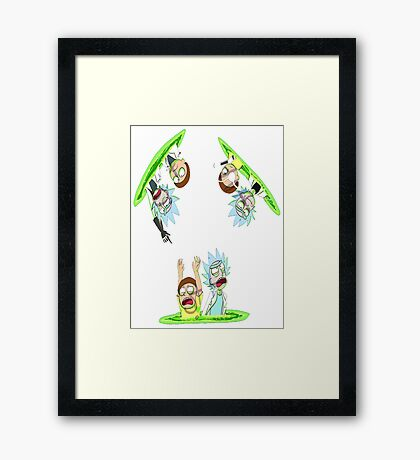 Teleport Rick And Morty Framed Print