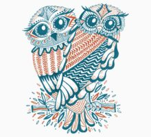 Owls – Teal & Orange T-Shirt