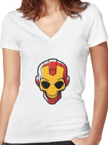 iron gosh Women's Fitted V-Neck T-Shirt