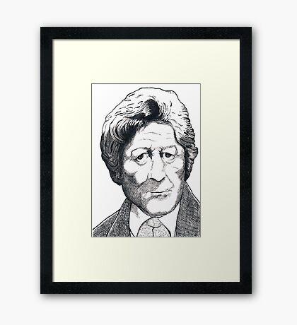 Jon Pertwee - Dr Who Framed Print