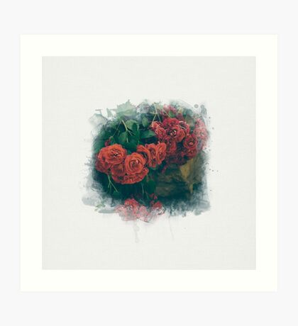 Fading Flowers / Watercolor Art Print