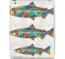 Fish Art Print - Colorful Salmon - By Sharon Cummings iPad Case/Skin