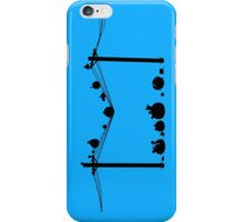 Angry Birds on a wire iPhone Case/Skin