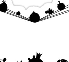 Angry Birds on a wire Sticker