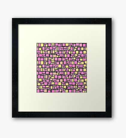 Abstract blocks Framed Print