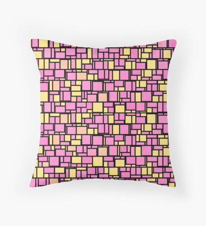 Abstract blocks Throw Pillow