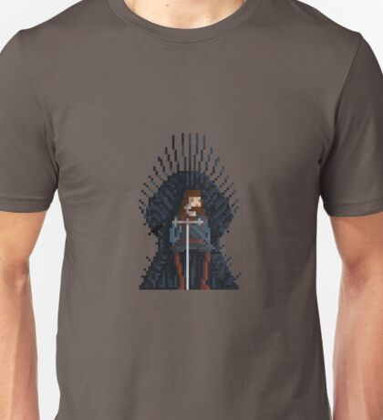 8-Bit TV Iron Throne Unisex T-Shirt