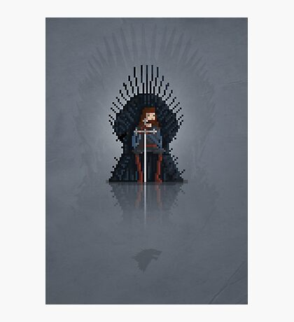 8-Bit TV Iron Throne Photographic Print