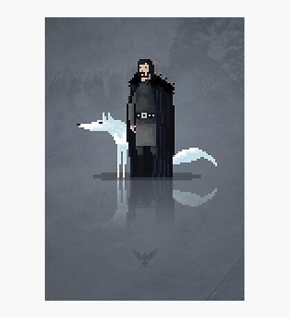 8-Bit TV Jon Snow Photographic Print