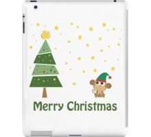 Merry Christmas Monkey Elf! iPad Case/Skin