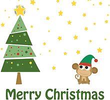 Merry Christmas Monkey Elf! by Eggtooth