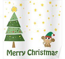 Merry Christmas Monkey Elf! Poster