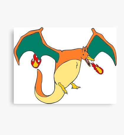 Charizarduck Canvas Print