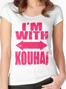 I'm With Kouhai (PINK) Women's Fitted Scoop T-Shirt