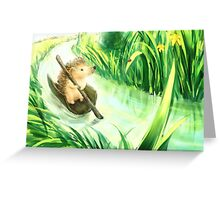 Hedgehog on a journey Greeting Card