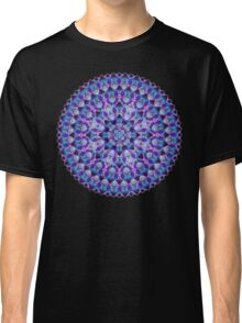 Luminous Crystal Flower Mandala Classic T-Shirt