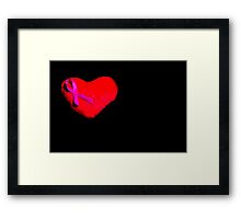 Heart with pink bow Framed Print