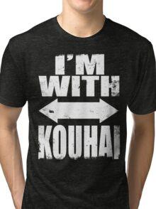 I'm With Kouhai (WHITE) Tri-blend T-Shirt