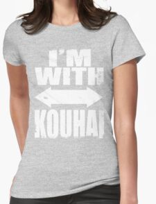 I'm With Kouhai (WHITE) Womens Fitted T-Shirt