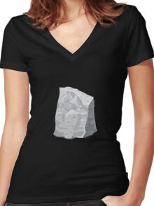 Glitch Harvestable resources rock dullite 1 Women's Fitted V-Neck T-Shirt