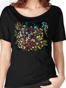 TINY FRUIT FLOWERS Women's Relaxed Fit T-Shirt