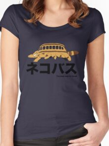 Catbus travel New Women's Fitted Scoop T-Shirt