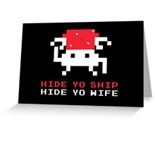 Space Intruders Greeting Card