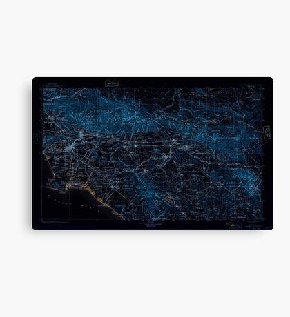 USGS TOPO Map California CA Southern California Sheet No 1 302164 1901 250000 geo Inverted Canvas Print