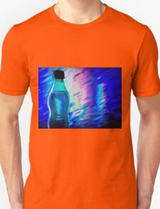 Bottle of water on abstract background Unisex T-Shirt