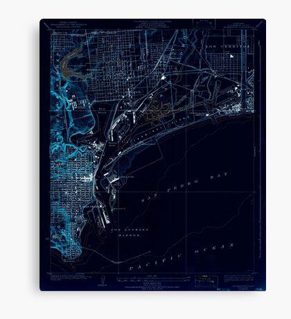 USGS TOPO Map California CA Wilmington 301393 1925 24000 geo Inverted Canvas Print