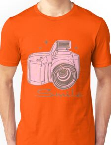 Camera Smile- womans photography shirt Unisex T-Shirt