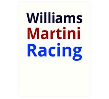 Williams Martini Racing Art Print