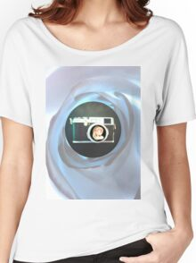 Vintage Flower Camera Women's Relaxed Fit T-Shirt