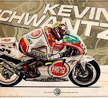 Kevin Schwantz - 500cc 1993 by Evan DeCiren