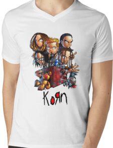 Korn Logo Mens V-Neck T-Shirt