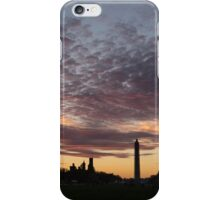 Washington National Mall Skyline and a Spectacular Sky iPhone Case/Skin