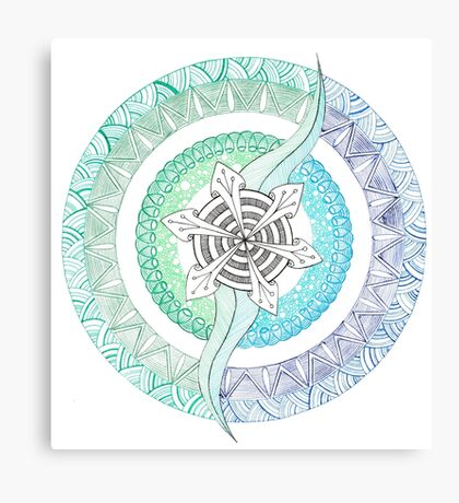 Zen Yin Yang Canvas Print