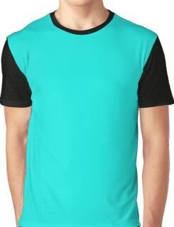Bright Turquoise Graphic T-Shirt