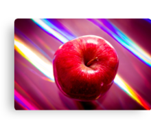 Futuristic red apple Canvas Print