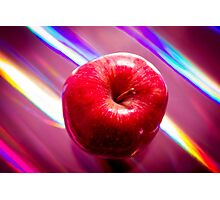 Futuristic red apple Photographic Print