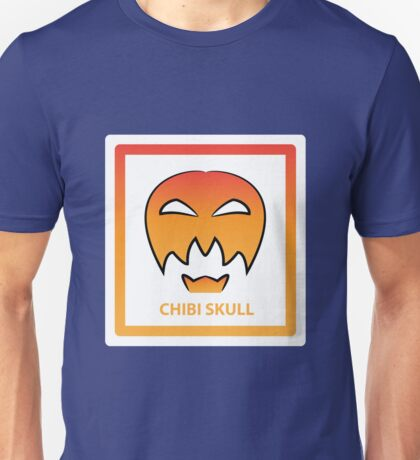 Chibi Skull 3 Orange Unisex T-Shirt